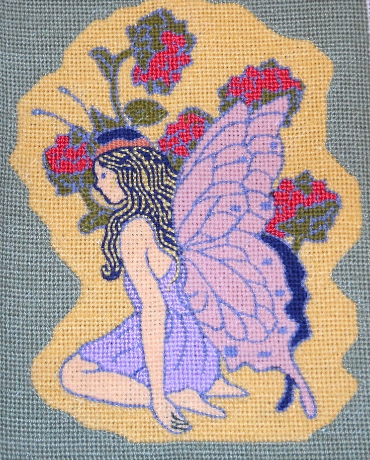 "Original Needlepoint art by Paul Tartanella:   ""Angel"""