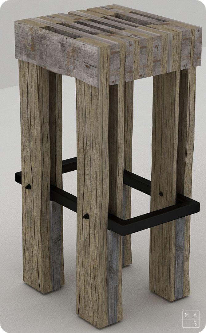 Taburete diseñado por mas · arquitectura para la clínica Inicia Dental. Furniture, mobiliario, design, contemporary, art, estética industrial, diseño, muebles.