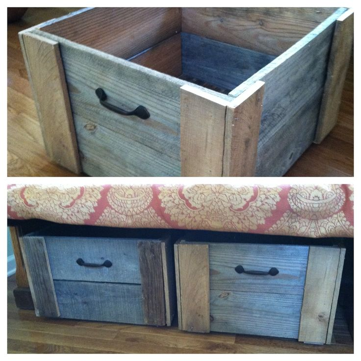 Pallet Wood Storage Bin. $35.00, via Etsy.