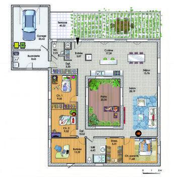 25 best ideas about maison de plain pied on pinterest. Black Bedroom Furniture Sets. Home Design Ideas