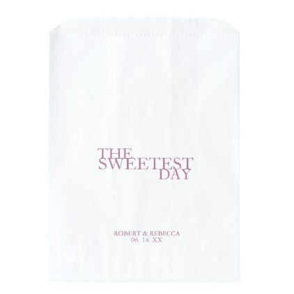 """Simple & Bold """"Sweetest Day"""" Wedding Favor Bags - wedding party gifts equipment accessories ideas"""