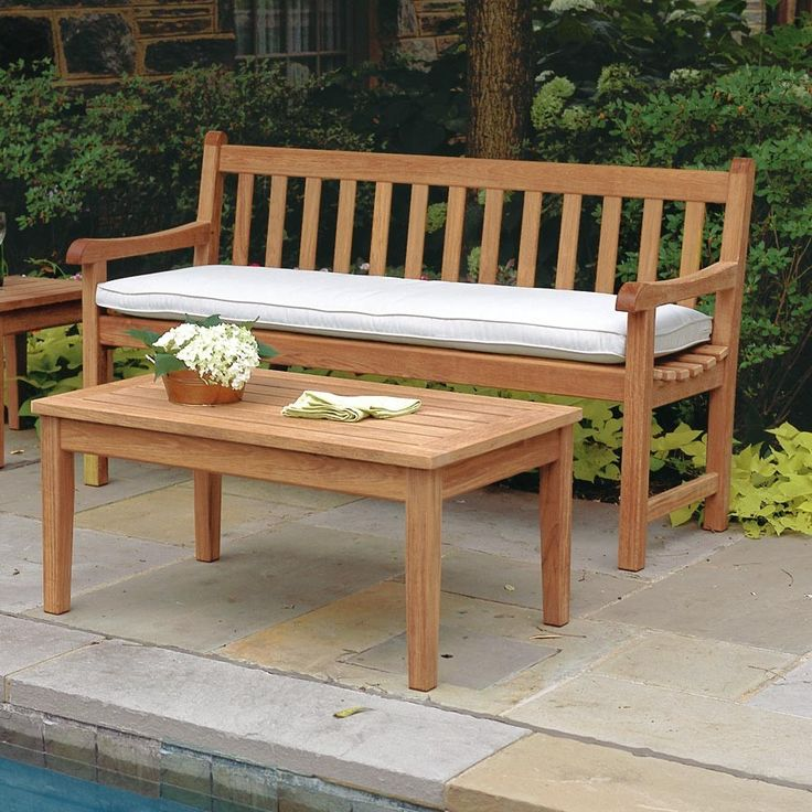 colonial teak furniture bench shop garden burmese