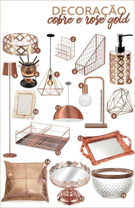 Compras: decoração em cobre e rose gold