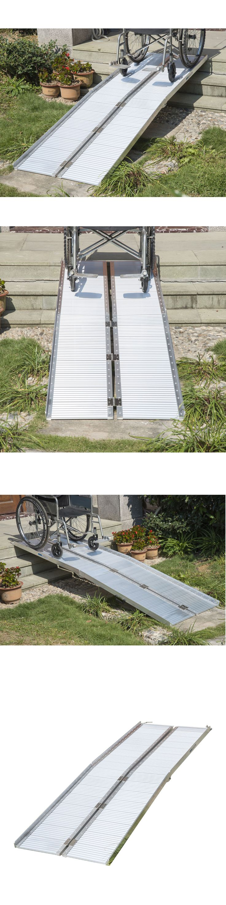 Access Ramps: Homcom 8 Aluminum Wheelchair Ramp Fold Handicap Scooter Ramp Portable Mobility BUY IT NOW ONLY: $189.99