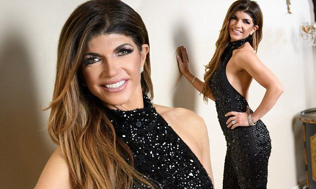 Teresa Giudice showcases slender physique in clingy beaded jumpsuit.  I still like her. Something endearing about her and I appreciate her work ethic. Even if she prefers not to drive the Fors parked in her garage. 😜