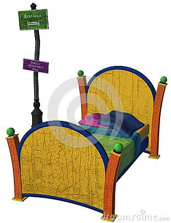 Fantasy Bed With Sign - Download From Over 27 Million High Quality Stock Photos, Images, Vectors. Sign up for FREE today. Image: 46104946