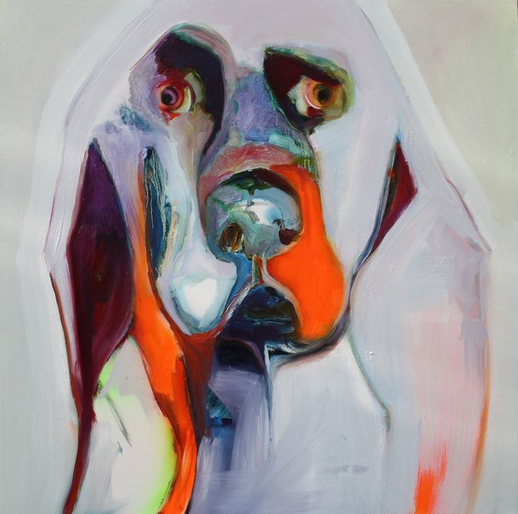 """Patricia Derks; Oil, 2012, Painting """"dog"""""""