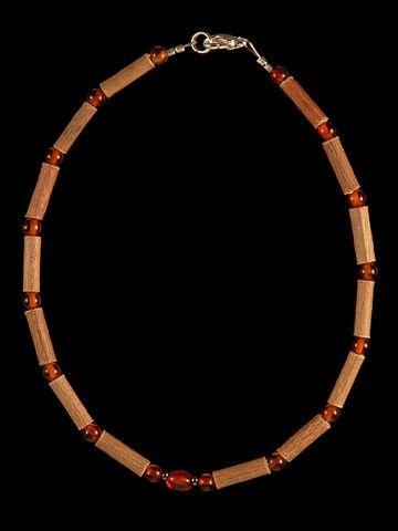Teething Hazelwood Necklace with Cognac Baltic Amber beads