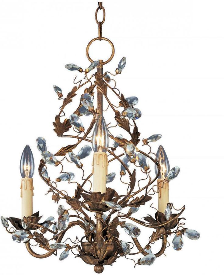Three Light Etruscan Gold Up Mini Chandelier By Maxim Now Hanging At The Lite Company