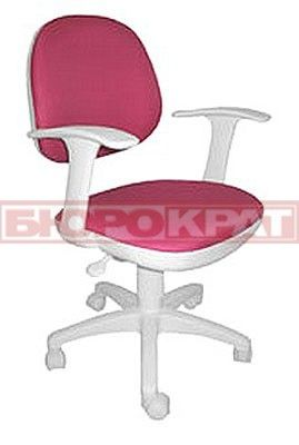Кресло CH-W356AXSN/15-55 белый пластик,розовая ткань