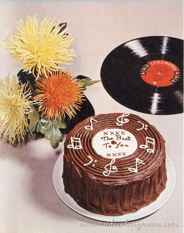 Record Cake – I am pretty sure that I will at least try to make this, probably.