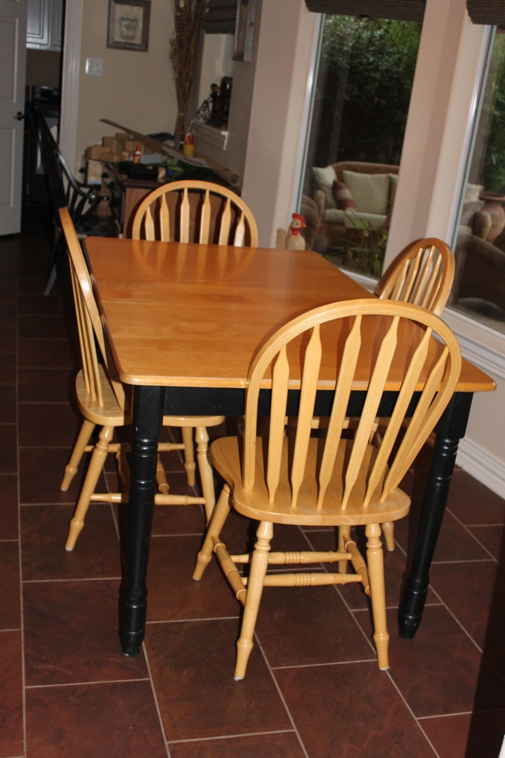 Mod Podge Kitchen Table
