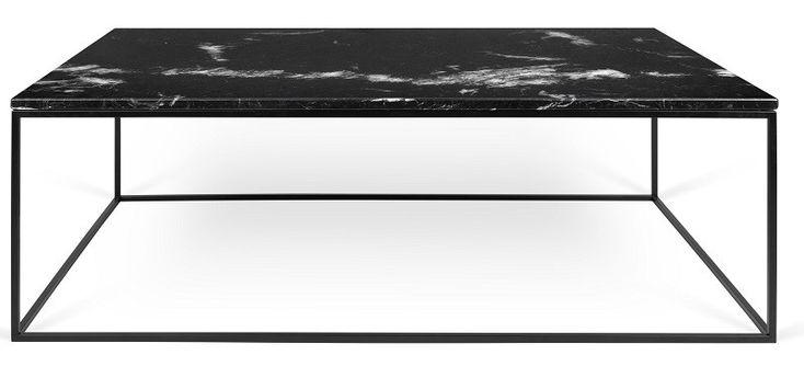 Gleam+Sofabord+-+Svart+-+120+cm+-+Vakkert,+svart+sofabord+fra+TemaHome.+Bordet+har+en+elegant,+svart+bordplate+i+marmor+og+et+stilfult+svart+stålstell,+som+sammen+gir+bordet+et+stilrent+og+moderne+design.