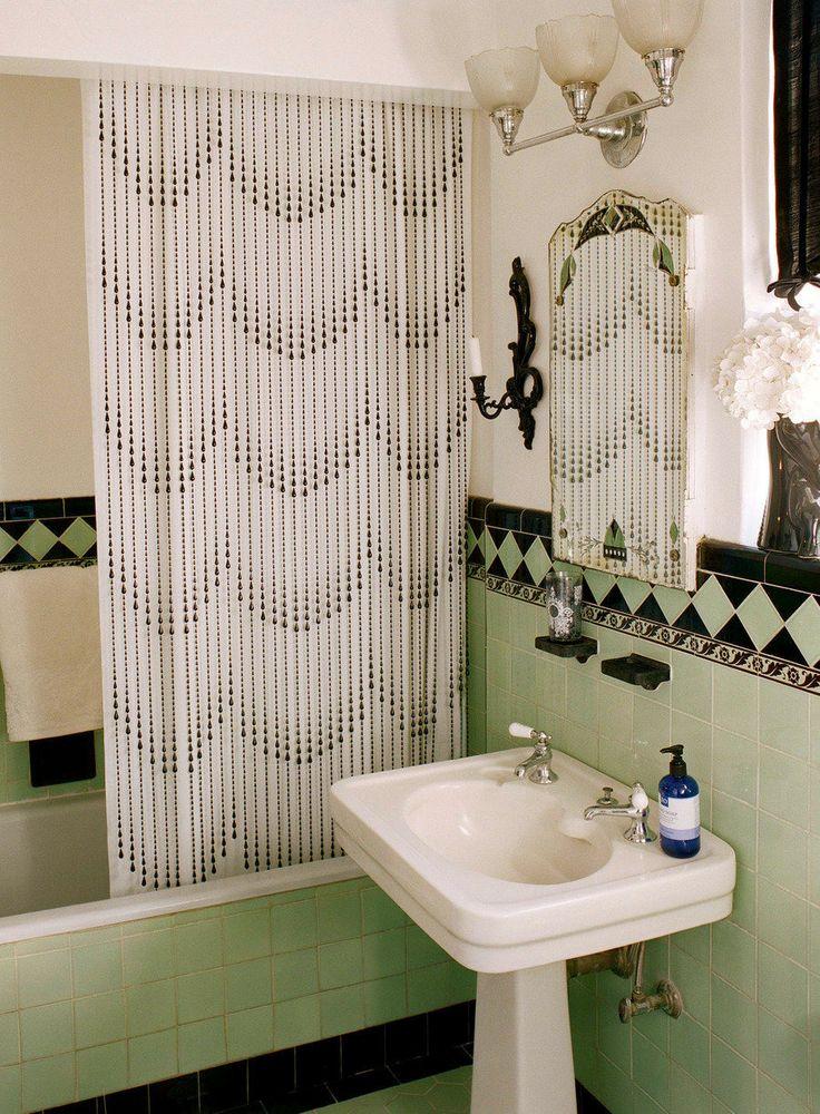 38 best vintage tile bathrooms images on pinterest for Retro badezimmer