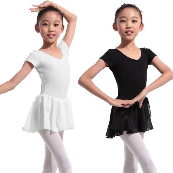 Girls Kids Leotard Dress Ballet Dance Gymnastics Tutu Skirt Dancewear Costume