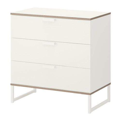 TRYSIL Chest of 3 drawers IKEA Smooth running drawer with pull-out stop - master bedroom x2