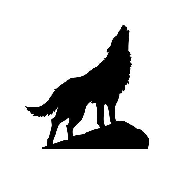 Howling Wolf Vinyl Decal Sticker Animal Spirit Coyote Etsy In 2021 Wolf Howling Wolf Silhouette Howling Wolf Tattoo