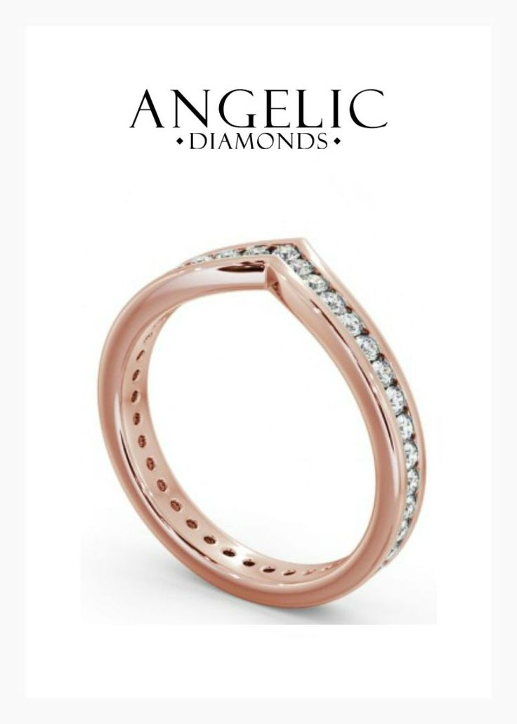 This rose gold diamond eternity ring features a classic yet modern design and a sparkling channel of round shaped diamonds. Find your perfect eternity ring today from #AngelicDiamonds. #Wedding #Jewellery #Jewelry #WeddingJewellery #WeddingJewellery #Ring #WeddingRing #Diamond #Diamonds #DiamondRing #DiamondRings #EternityRing #RoseGoldRing