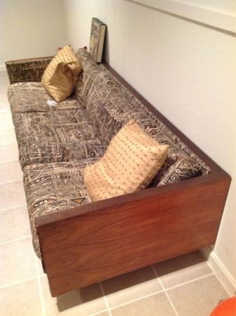 Mid Century Modern Rosewood Sofa Couch Milo Baughman Eames Style