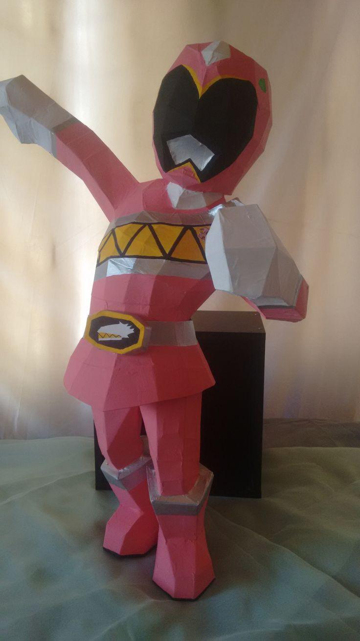 Piñata en 3D PINK POWER RANGERS Realizados por BPDISENOS Síguenos en Instagram: @bpdisenos Facebook: bpdisenos