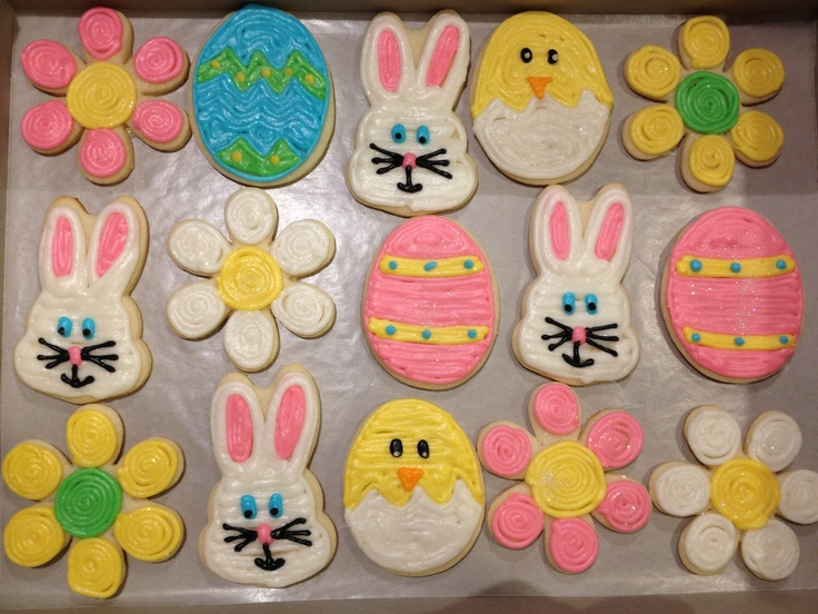 Easter Cakes And Cookies Pinterest