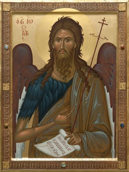 St John the Baptist. Catalog of St Elisabeth Convent. Made to order.#CatalogOfGoodDeeds   #icon #iconography #orthodoxicon #orthodoxiconography #paintedicon #iconsinoklads #mountedicons #buyicon #ordericon #handpainted #lacqueredicon #iconpainters #iconographers #MotherOfGod #Theotokos #HolyTheotokos #VirginMary #Christ #JesusChrist #Savior #Pantocrator #ChristThePantocrator #familyicon