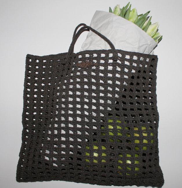 CROCHETED MARKET BAG ✿Teresa Restegui http://www.pinterest.com/teretegui/✿