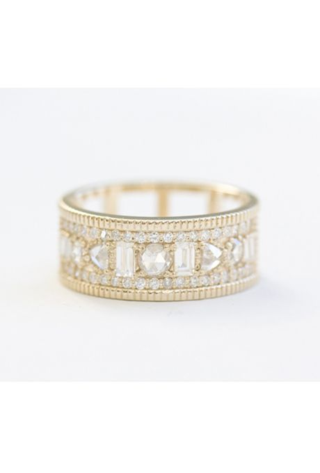 Brides.com: Eternity Bands That Double as Engagement Rings Bezel-set diamond band, $4,550, Studio Waterfall available at Greenwich JewelersPhoto: Courtesy of Greenwich Jewelers