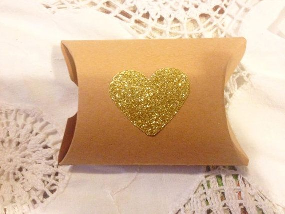 Kraft Paper Pillow favor Box Wedding Party Favor by TypeWright