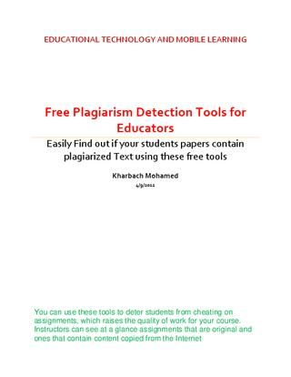 how to check if your assignment is plagiarism