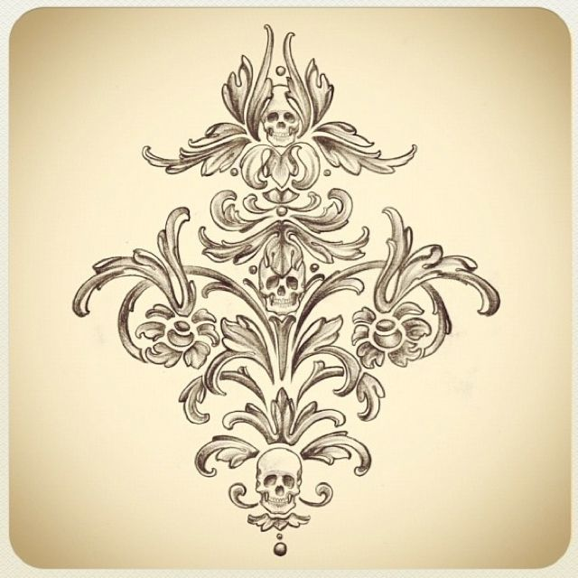 filigree tattoo | From Kat Von D on Instagram... I loved this filigree!! | Tattoos