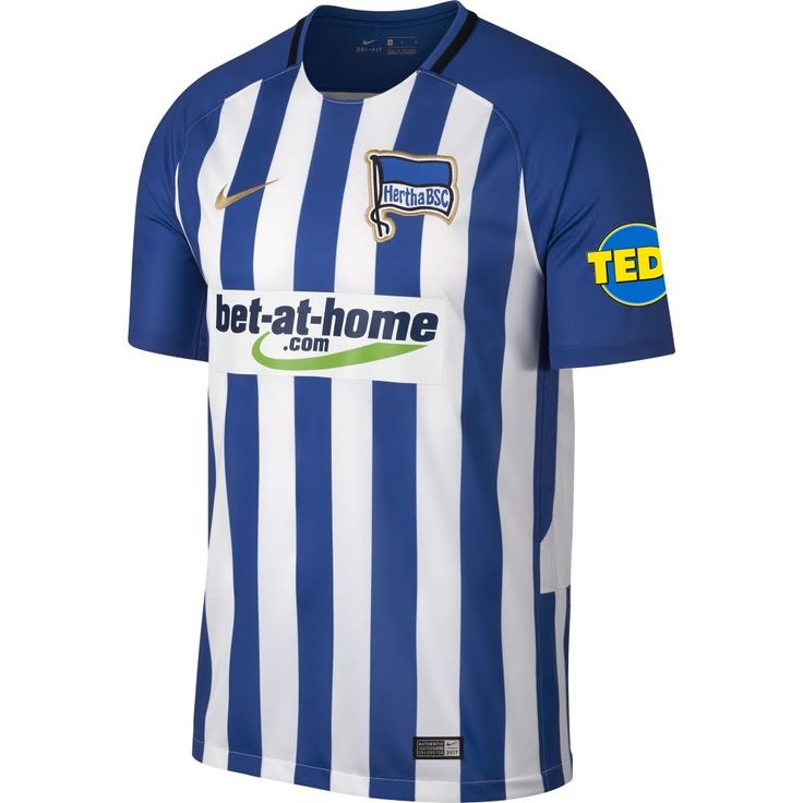 Hertha Berlin Home Jersey 2017 / 2018 + TEDi Sleeve Patch