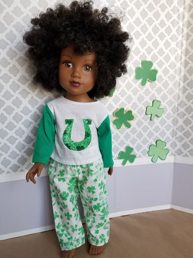 Erin Go Braugh! Cute Pajamas to Celebrate St. Paddy's Day! For 18-Inch Dolls! by CreativelyEllie on Etsy