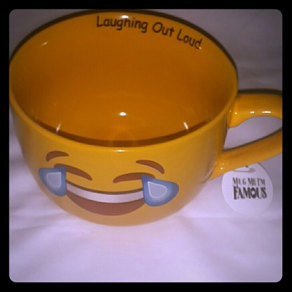Laugh Out Loud COFFEE MUG/SOUP MUGS 18oz Beautiful EMOJI mugs brand New. Other