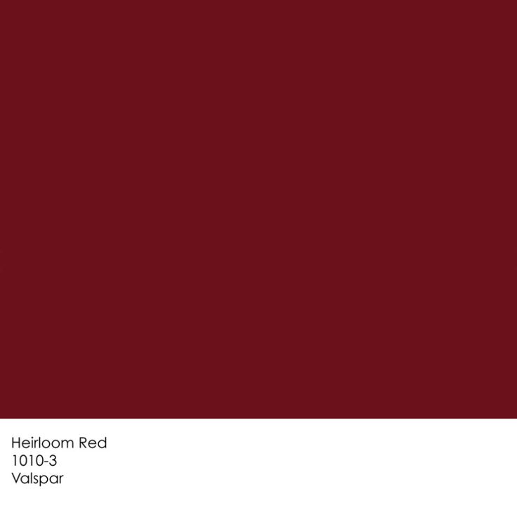 Valspar Heirloom Red                                                                                                                                                                                 More