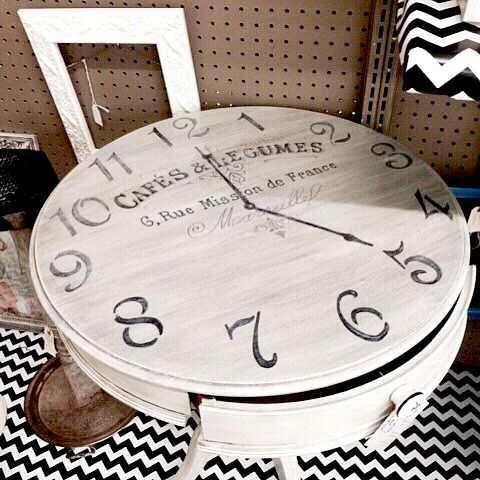 DIY French Clock Table - Reader Feature - The Graphics Fairy