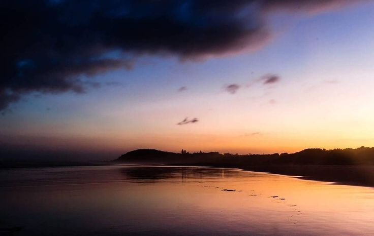 """""""Sunset reflections during a wander on the beach from my campsite @flatrocktentpark. There's something about the freedom of a home consisting entirely of a…"""""""