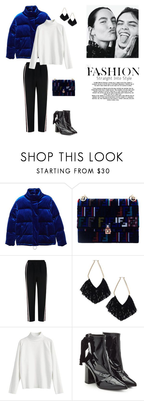 """""""26/11"""" by dorey on Polyvore featuring MANGO, Fendi, Whistles, Ettika and Robert Clergerie"""