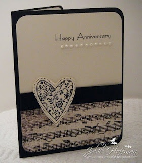 Forget anniversary: this is great for all occasions! Mixed media truly helps a card seem customized.