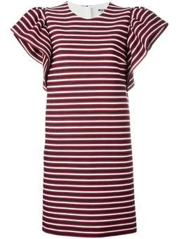 полосатое платье-футболка