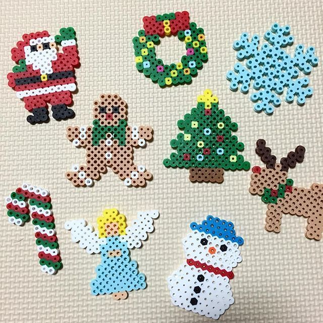 Christmas ornaments perler beads by vivaminami