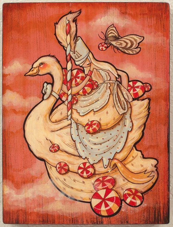 Brandi Milne - Carousel Flight (swan eyes), 2008