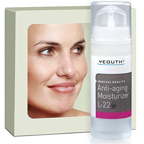 Best Anti Aging Moisturizer Face Cream, Shea Butter, Jojoba & Macadamia Seed Oil, and Patented L22 Complex From YEOUTH, Hydrates, Firms, Erases Wrinkles and Evens Skin Tone - Day and Night Cream ** You can get more details here : Best Anti Aging Products
