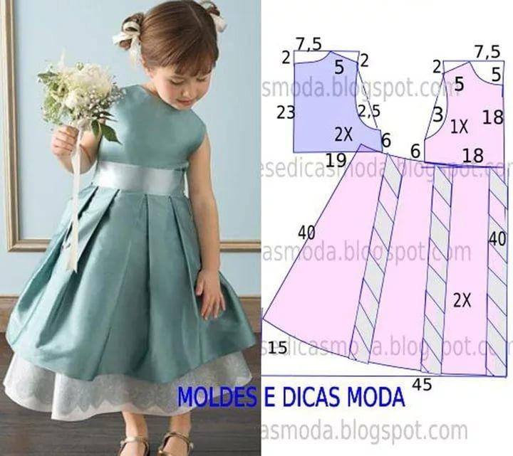 Выкройки платье для девочек с ростом 116