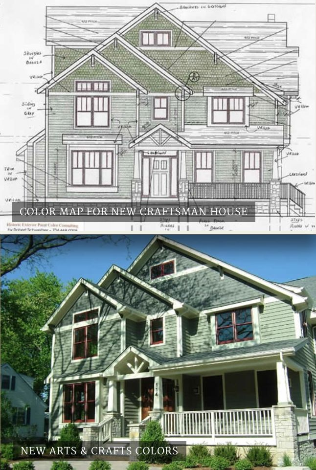 Historic Home Elevation : Best craftsman bungalow colors images on pinterest