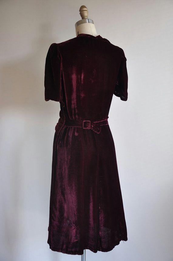 В продаже 20% OFF ..// .. старинные 1930-х годов 30-х годов платье от simplicityisbliss
