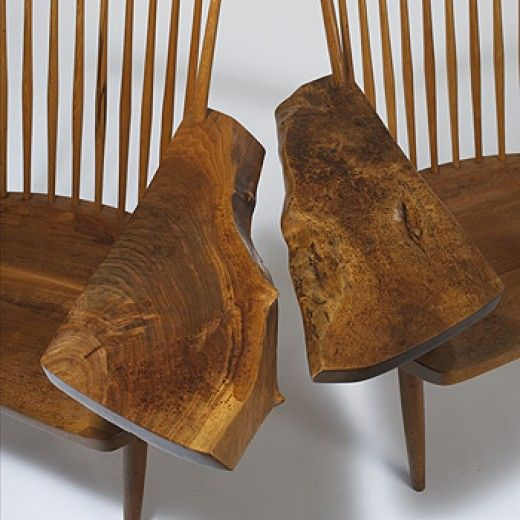 George Nakashima / Armchairs, Pair. Tree FurnitureHouse FurnitureCustom  WoodworkingGeorge NakashimaBig ...