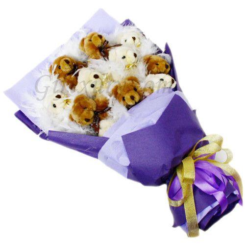 Teddy Bear Purple Bouquet http://www.giftxury.com.sg/product/teddy-bear-purple-bouquet/