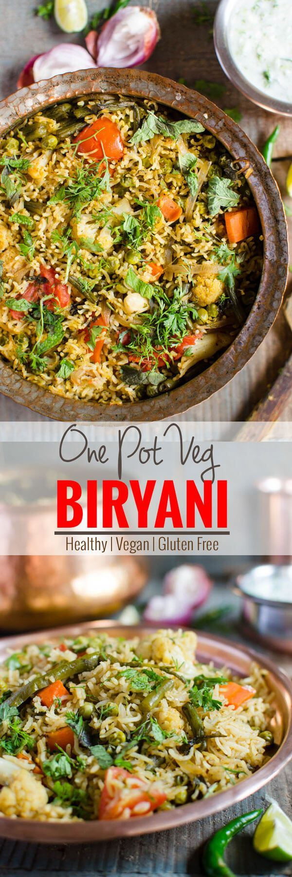 Vegetable biryani is a meatless Indian delicacy perfect for vegetarian people. It is prepared using a variety of fresh veggies. This veg. biryani is nutritious & healthy | watchwhatueat.com