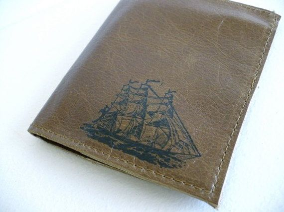 leather billfold walet custom printed for you card slots by inblue, $18.00